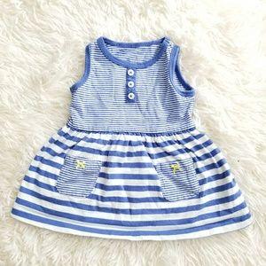 Girls striped dress sleeveless Sz 6M
